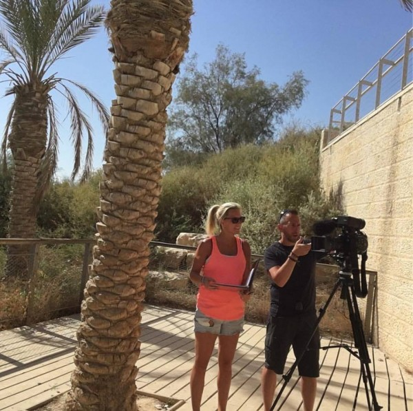 Sherri in Israel filming for television series video production brantford